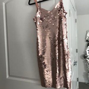J. Crew Dresses - JCrew Rose Gold Cocktail Dress